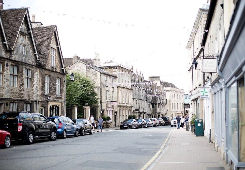 Tetbury located in the Cotswolds